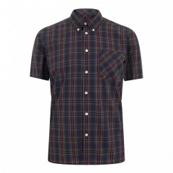 Short sleeve buttom down shirt MACK - BLUE