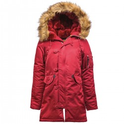 Parka Alpha Industries Woman N3B PPS Wmn - Burgundy