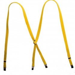 Classic 1/2  Inch Braces  YELLOW