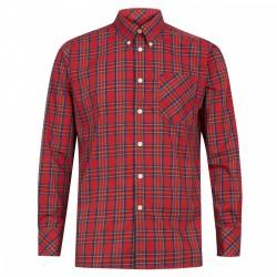 Camisa Manga Larga Button-Down NEDDY - ROJO ESCOCES