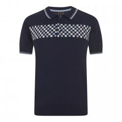 Merc IDAN Polo Shirt Short Sleeved NAVY