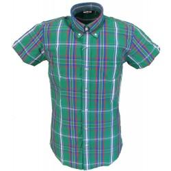 Short Sleeve Buttom Down RELCO Stewart GREEN Ladies Shirt
