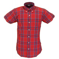 Short Sleeve Buttom Down RELCO Stewart RED Ladies Shirt