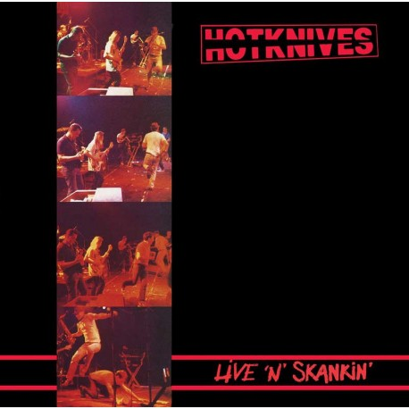 "THE HOTKNIVES - Live`N`Skankin' - LP + 12"""