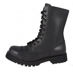 Boot Commando Steelground 10 eyelets vegan leather - BLACK