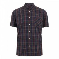 Camisa Manga Corta Button-Down MACK - AZUL