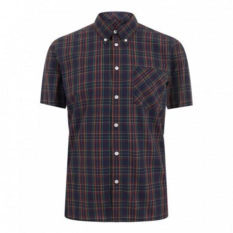 Short sleeve buttom down shirt MACK - BLUE
