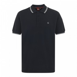 Merc CARD Polo Shirt Short Sleeved NAVY With White