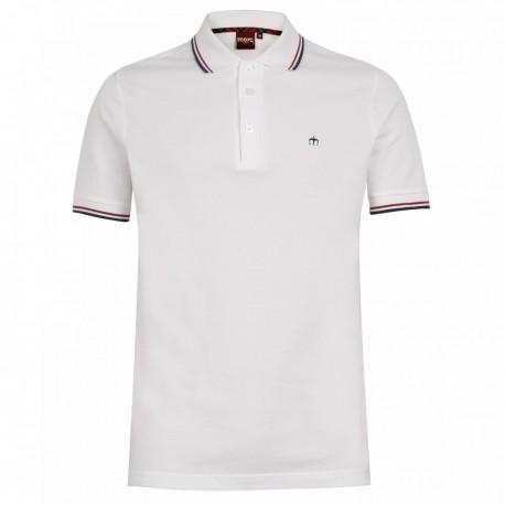 Riflessione Mal di mare Prestito di denaro  Merc CARD Polo Shirt Short Sleeved WHITE with Blue And Red - BRIXTON DENDA