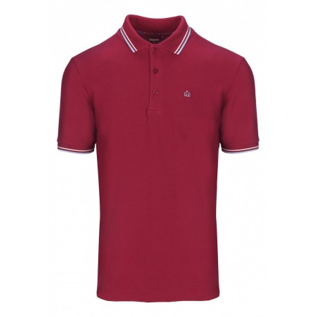 Merc CARD Polo Shirt Short Sleeved CLARET / HARMONY