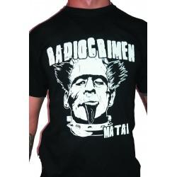 Men's Black T-Shirt Radiocrimen - Matame
