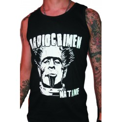 Men's Black Sleeveless T-Shirt Radiocrimen - Matame