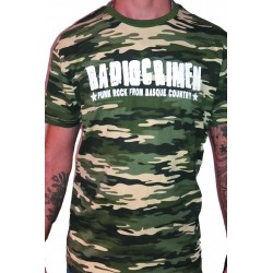 Men's Green Camo T-Shirt Radiocrimen - Punk Rock From Basque Country