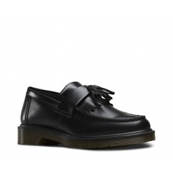 Dr. Martens 14573001 Adrian Tassle Loafer Polished Smooth - BLACK