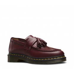 Dr. Martens 22209600 Adrian Tassle Loafer Smooth - CHERRY RED