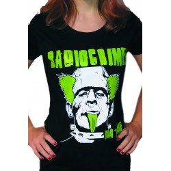 Women's Black T-Shirt Radiocrimen - Green Franki