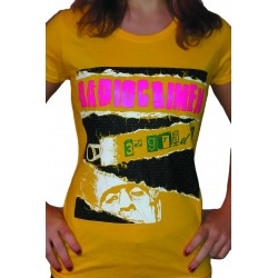 Women's Yellow Short Sleeved T-Shirt Radiocrimen - 3er Grado