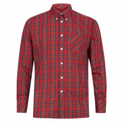 Camisa Manga Larga Button-Down NEDDY - ROJO ESCOCES