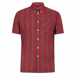Camisa Manga Corta Button-Down MACK STEWART RED - ROJO ESCOCES