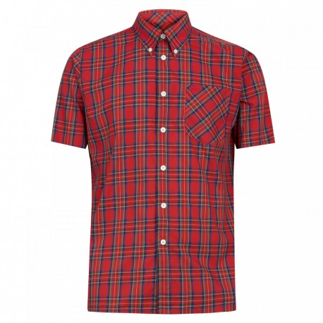 Short sleeve buttom down shirt MACK -  STEWART RED