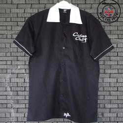 Button-Down Short Sleeve Bowling Shirt Wigan Casino - Black