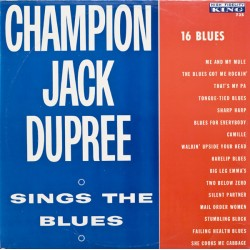 CHAMPION JACK DUPREE - Sings The Blues - CD