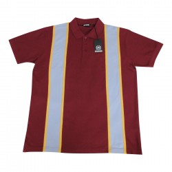 RELCO Polo Shirt Short Sleeved BURGUNDY