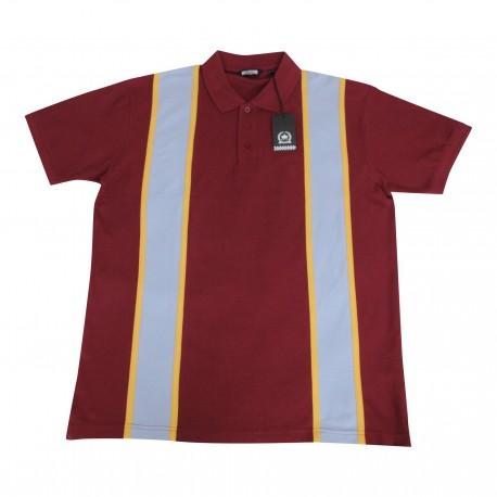 RELCO Polo Shirt Short Sleeved BURGUNDY