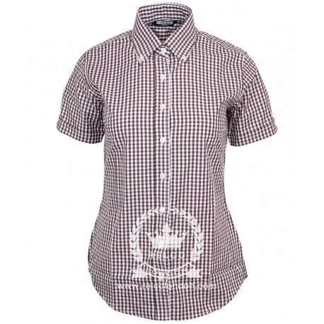 Camisa de Chica  RELCO Manga Corta Button-Down BURDEOS