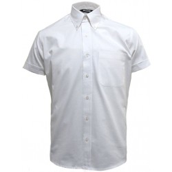 Short Sleeve Buttom Down RELCO WHITE Shirt