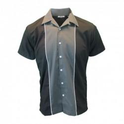 Short Sleeve Bowling Shirt CHARCOAL