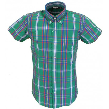 Short Sleeve Buttom Down RELCO Stewart GREEN Ladies Shirt