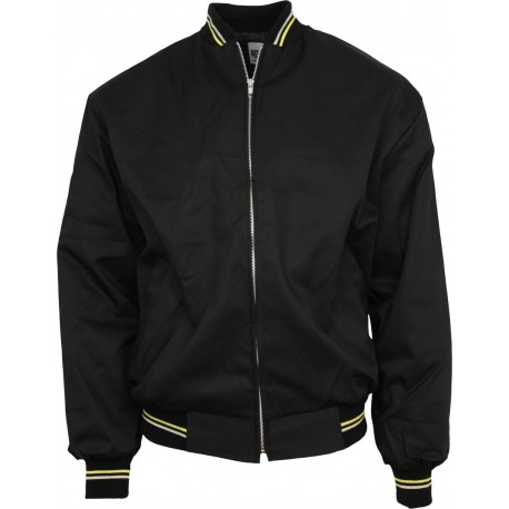 Harrington  Jacket - BLACK With Yellow And White