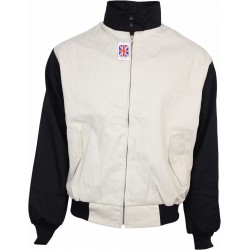 Chaqueta Harrington Rockabilly - BEIGE Con negro