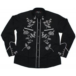 Rockabilly Shirt - BLACK With White