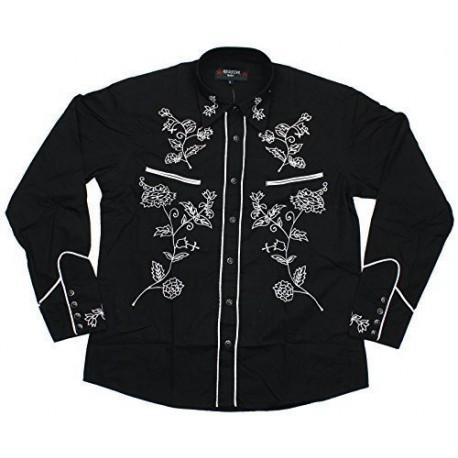 Rockabilly Shirt - BLACK With White