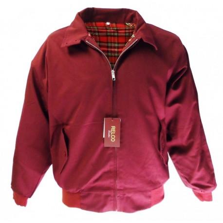 RELCO Harrington  Jacket - BURGUNDY