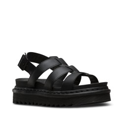 Dr. Martens YELENA HYDRO LEATHER Sandal  - BLACK