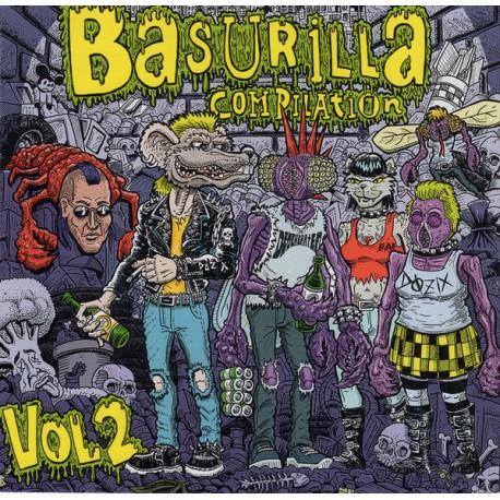 """V/A : Basurilla Compilation Vol.2 - Dozix , Degenerated , D.H.K - 7"""""""