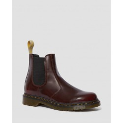Dr. Martens Vegan 2976 Chelsea Boot Oxforfd Rub Off  - CHERRY RED