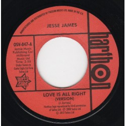 LARRY CLINTON - She's Wanted In Three States / JESSE JAMES - Love Is All Right Version  - 7""