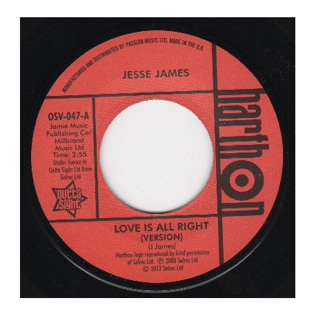LARRY CLINTON / She's Wanted In Three States - JESSE JAMES / Love Is All Right Version  - 7""