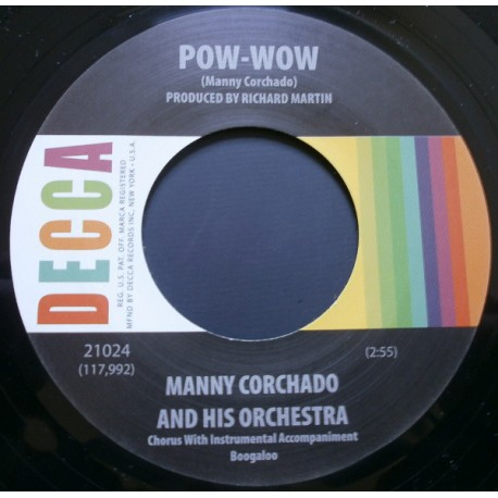 """JOHNNY CASWELL / You Don't Love Me Anymore - MANNY CORCHADO AND HIS ORCHESTRA / Pow-Wow - 7"""""""