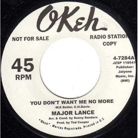 """MAJOR LACE / You Don't Want Me No More - SANDY SHELDON / Your Gonna' make Me Love - 7"""""""