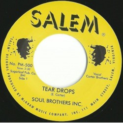 SOUL BROTHERS INC - Teardrops - 7""