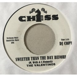 THE DELLS / Thinkin About You - THE VALENTINOS / Sweeter Than The Day Before - 7""