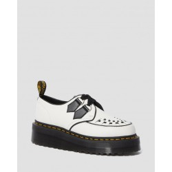 Zapato Dr. Martens Creeper SIDNEY QUAD Smooth - BLANCO / NEGRO