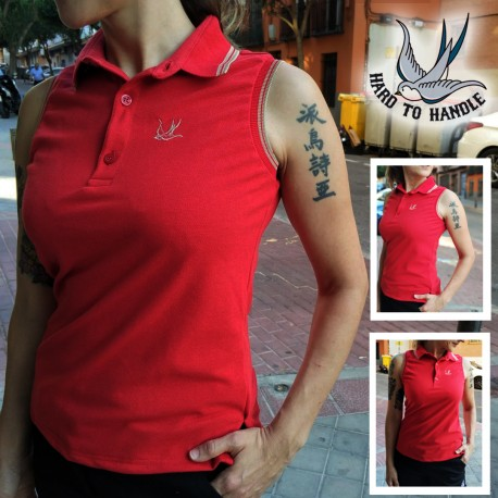 Girls HTH polo -  RED
