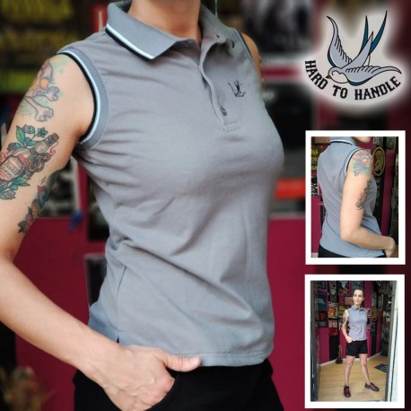 Girls HTH sleeveless polo shirt -  BEIGE