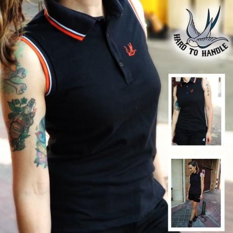 Girls HTH sleeveless polo shirt - GREY